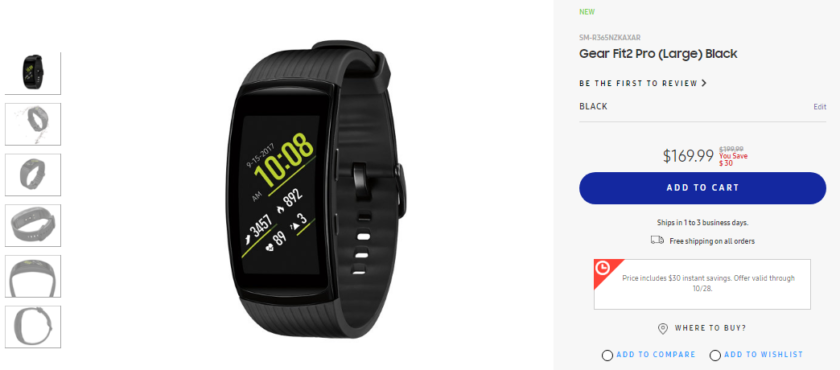 Deal: Samsung Gear Fit 2 Pro can now be yours for $170