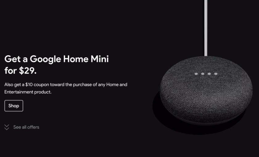 Google Store Black Friday sale now live, deals on Home Mini, Chromecast, and more