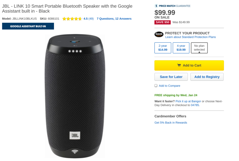 Deal: Get $50 off Google Assistant-powered JBL Link 10, 20, 300 smart speakers