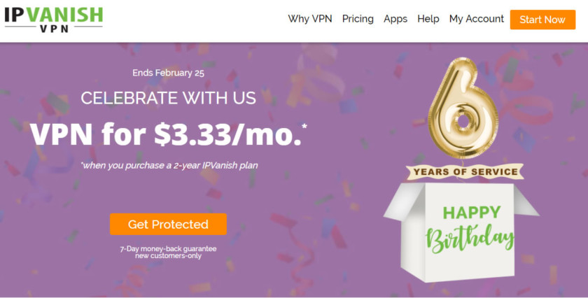IPVanish VPN turns 6; celebrates with all-time-low prices