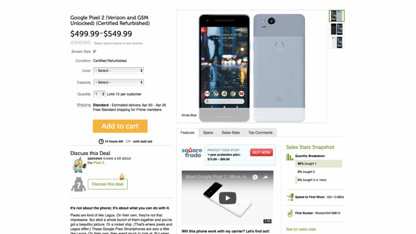 Google Pixel 2 deal