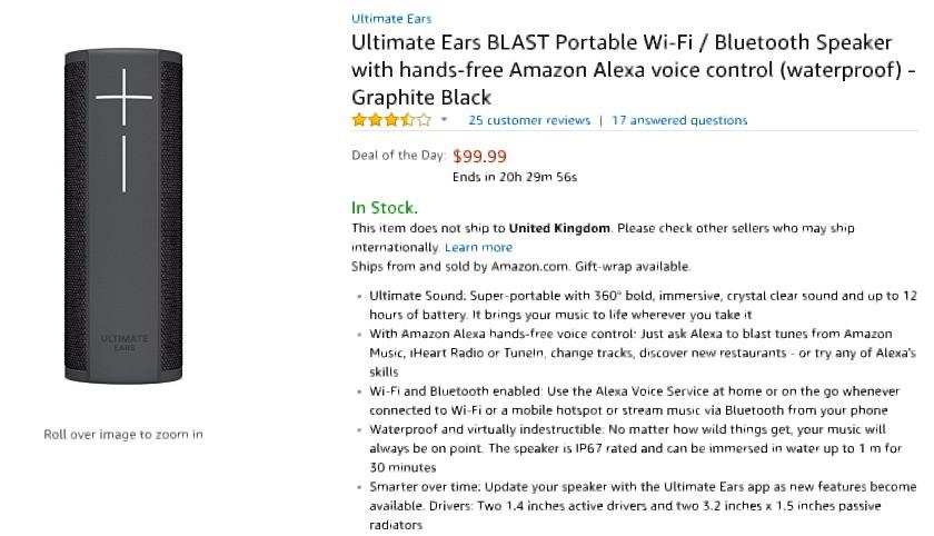 UE Blast Amazon