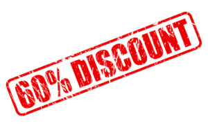 60% off discount