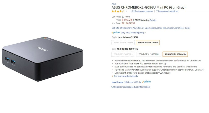 Deal: Get the Asus Chromebox 2 at Amazon for just $197