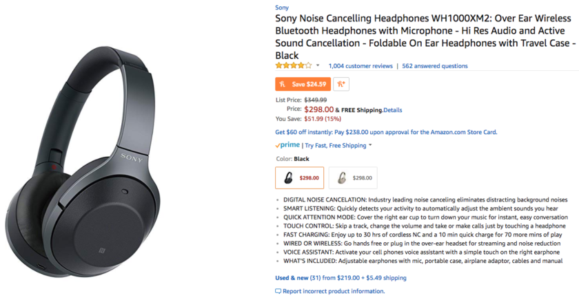 Deal: Grab the Sony WH-1000X M2 over-ear headphones for just $298 ($50 off)