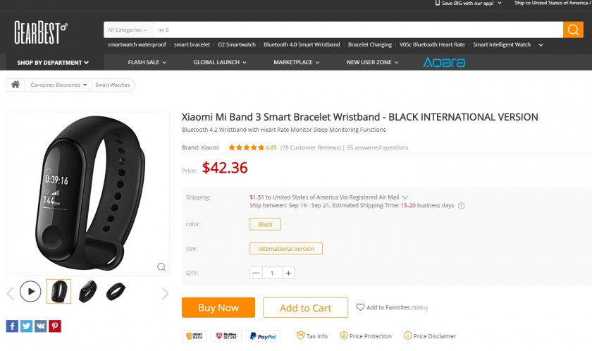 Deal: Get a Xiaomi Mi Band 3 for $24 shipped