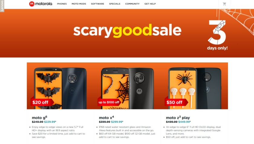 Motorola Halloween deals