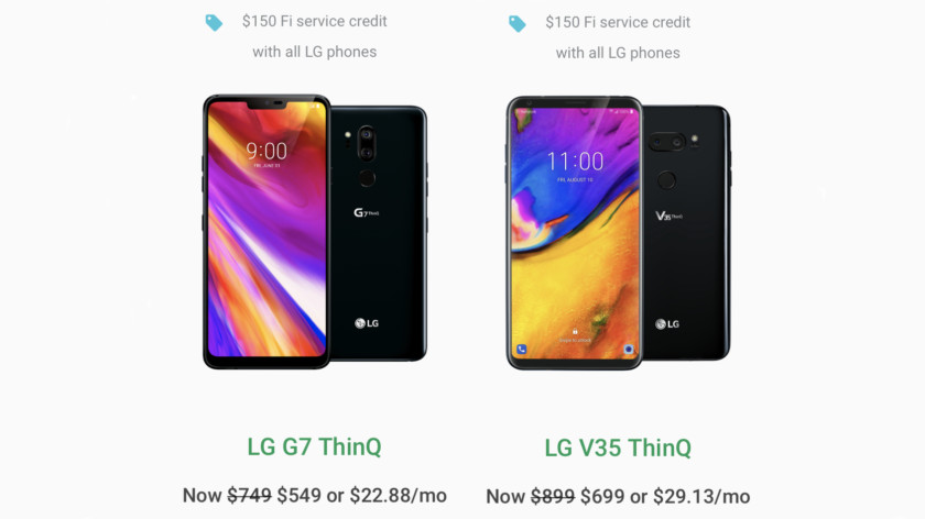 Deal: Get the LG G7 ThinQ for $549 and V35 ThinQ for $699 on Project Fi