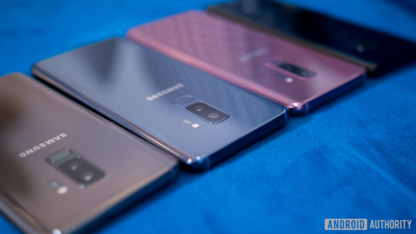 Samsung Galaxy S9 color comparison