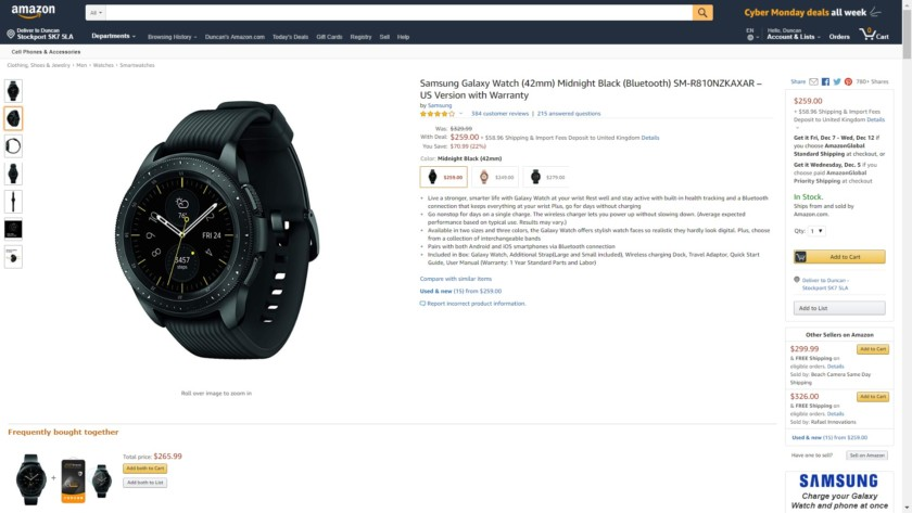 Galaxy Watch Amazon Deal