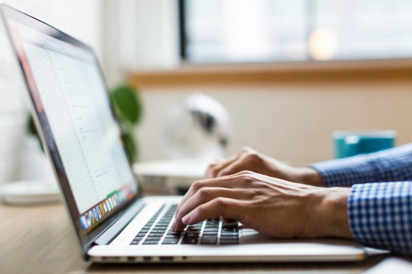 Java programming on a laptop