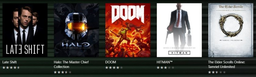 XBox Game Pass Featured Games