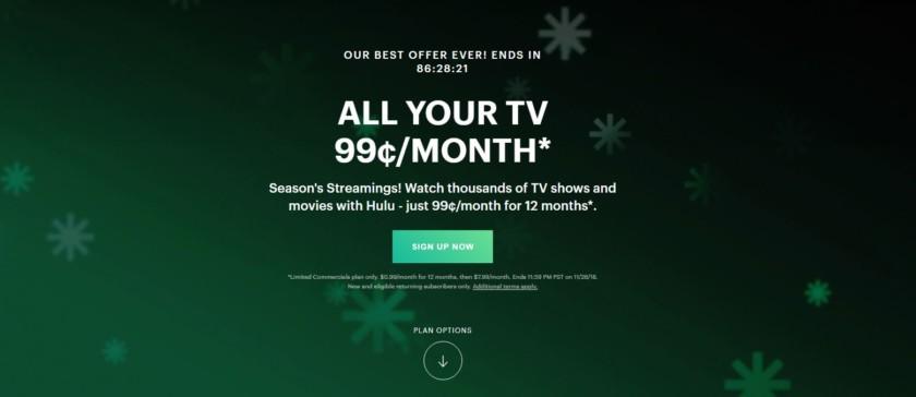 Hulu 99 cents