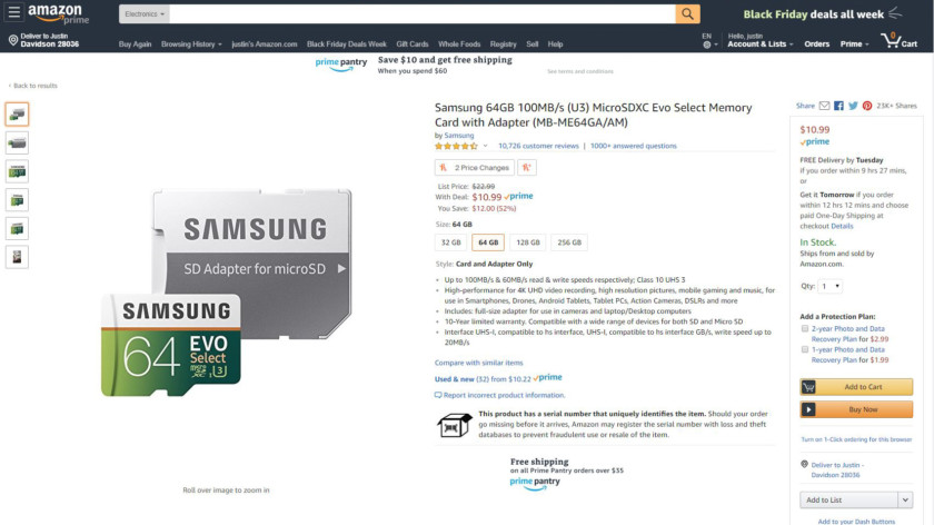 Deal: Samsung's 4K-capable EVO Select microSD cards are cheaper than ever