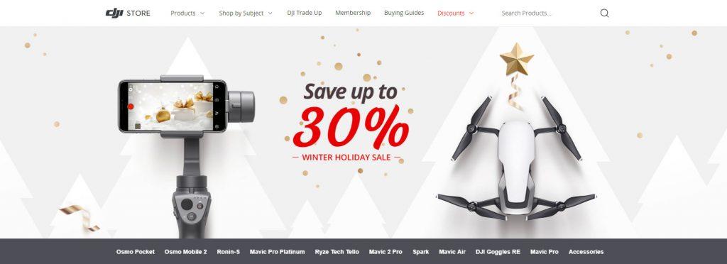 DJI holiday deals 2018