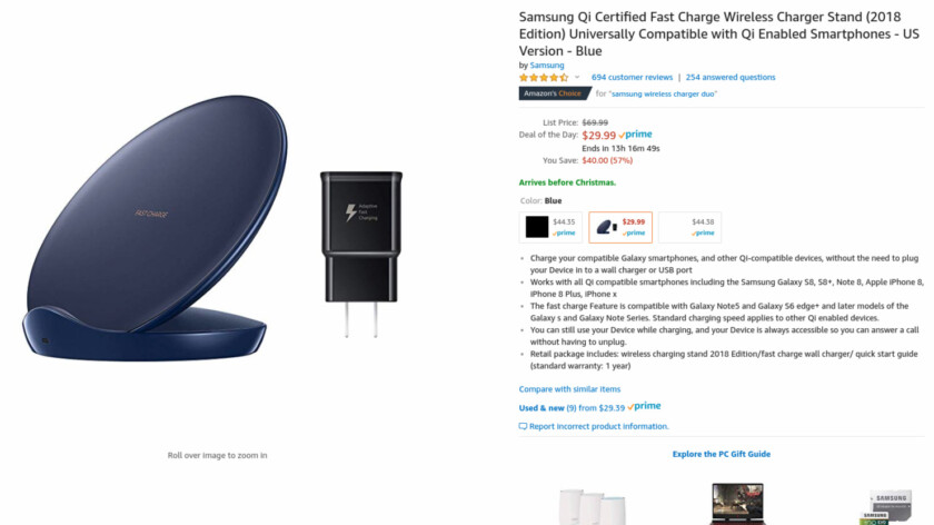 Deal: Get the Samsung Fast Charge Wireless Charger Stand for $30 ($40 off)