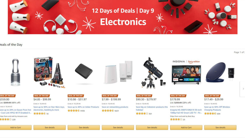 Save up to 57% on electronics during Amazon's 12 days of deals