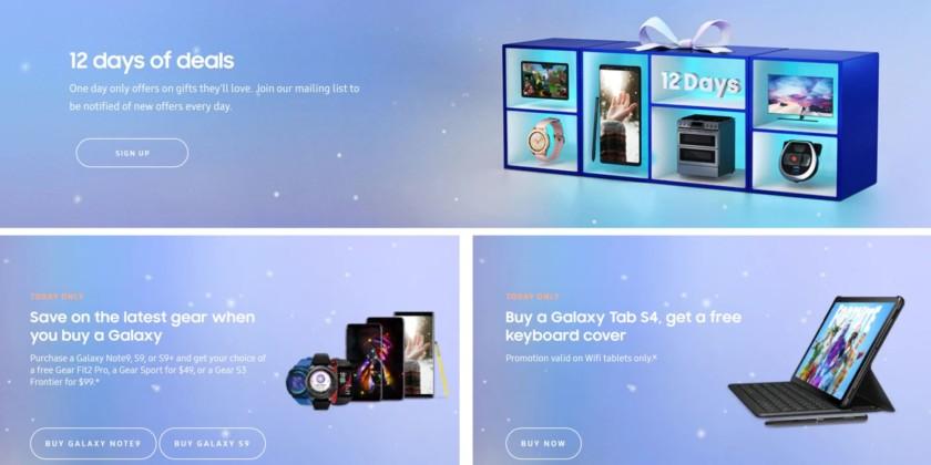 Samsung 12 days of deals internet advert.