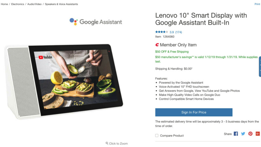 Deal: Get the 10-inch Lenovo Smart Display for $150 ($100 off)