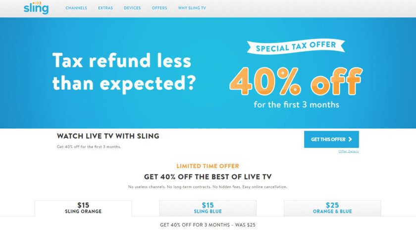 Sling TV 40 Percent Off