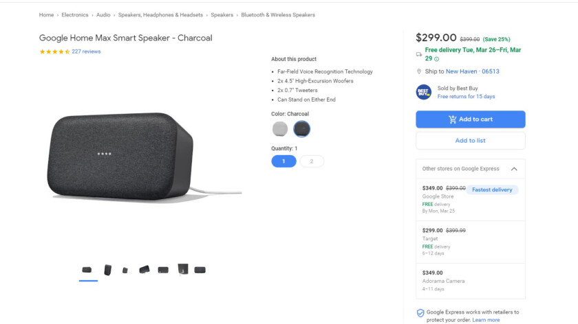 Deal: Google Home Max is $100 cheaper at most major retailers