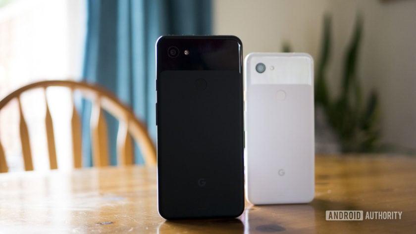 Pixel 3a Next to Pixel 3a XL