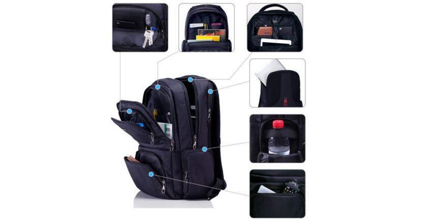 Polaris Laptop Backpack Pockets