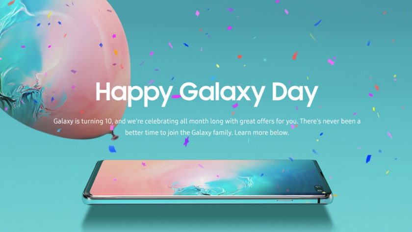 An official Samsung promotional image for Galaxy Day 2019.
