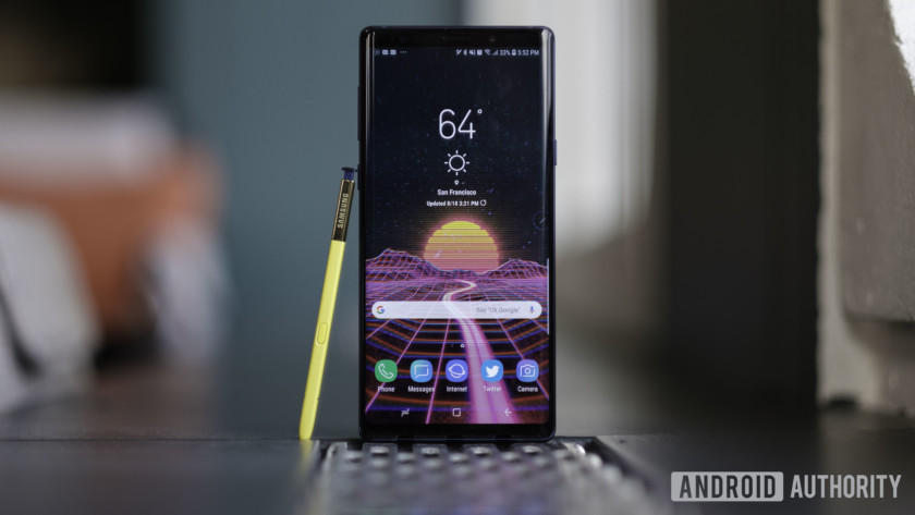 Samsung Note 9 Experience Homescreen