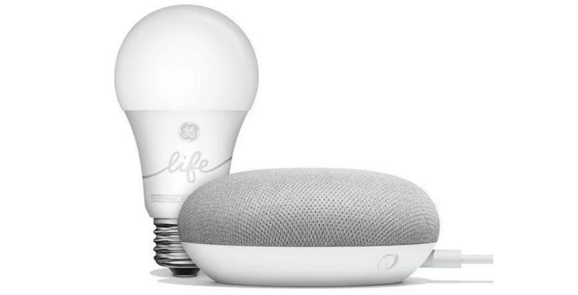 Google Smart Light Starter Kit with Google Home Mini