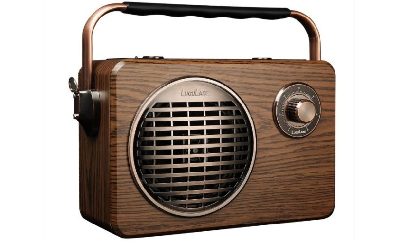 Bring back the old school vibe with this retro Bluetooth speaker