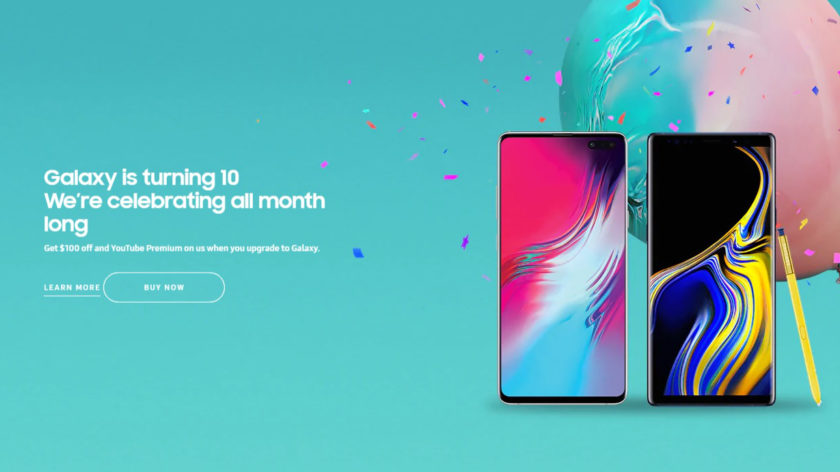 A promotional image from Samsung for its sales on Samsung flagships during June 2019.