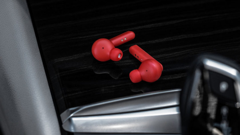 Mobvoi TicPods Free Red Earbuds