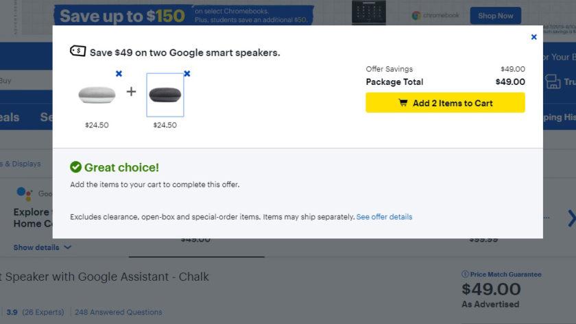 Google Home Mini Deal Best Buy July 2019