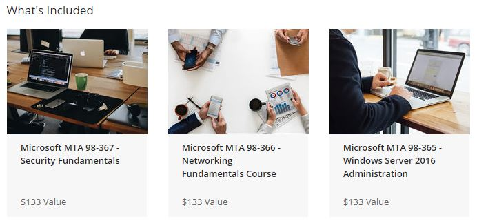 Microsoft Technology Associate Mastery Bundle Courses
