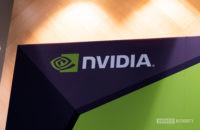 NVIDIA Logo on wall