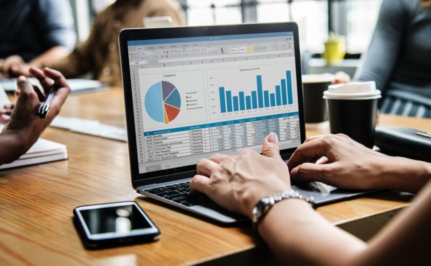 Microsoft Office Excel Laptop Meeting
