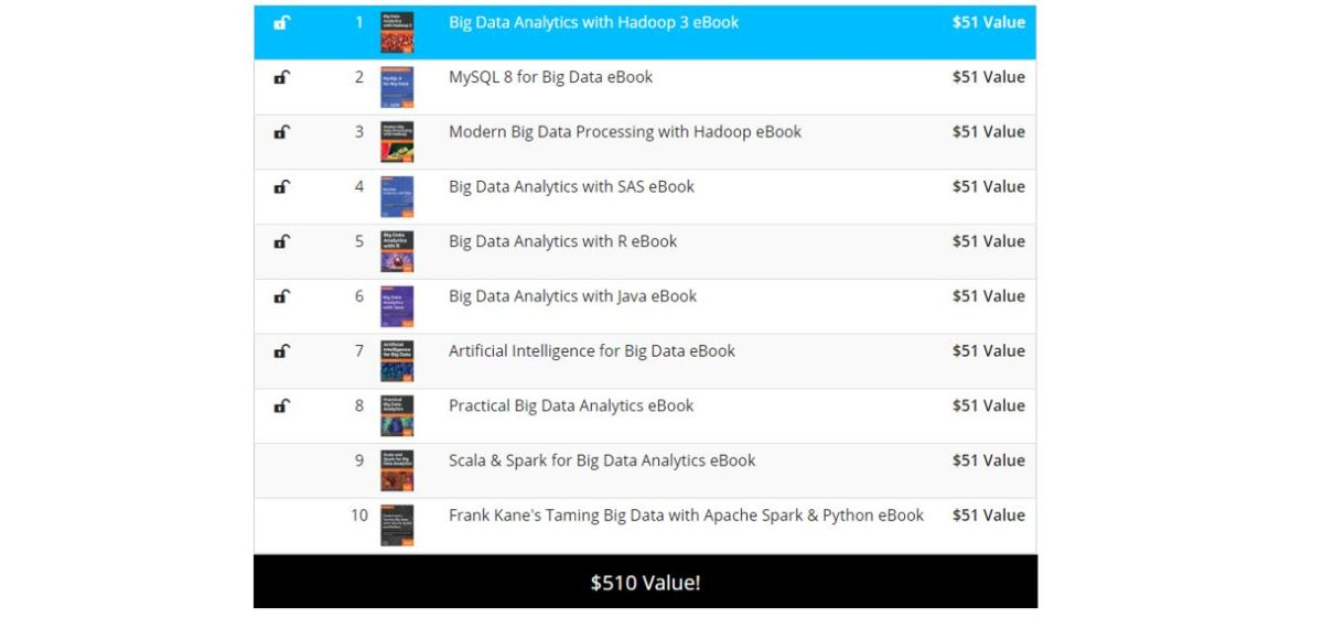 Pay What You Want The Big Data eBook Bundle