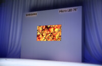 Samsung 75-inch, 4K MicroLED display on stage at CES 2019