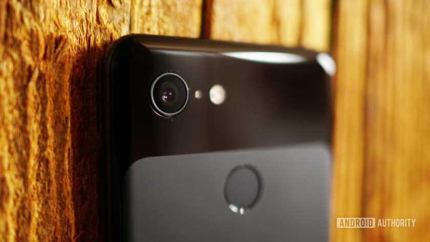 The back of the Google Pixel 3, showing the camera.