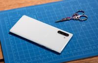 Samsung Galaxy Note 10 Plus Aura White on table back