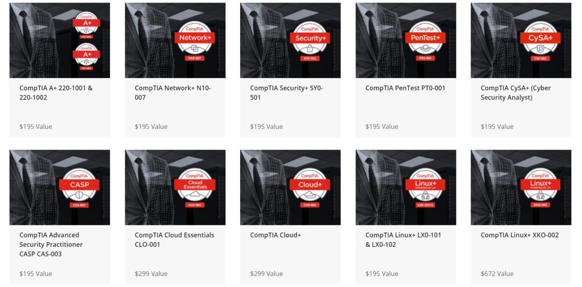 The Complete 2019 CompTIA IT Certification Training Bundle