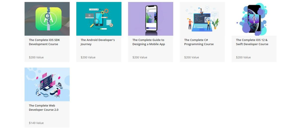 The Complete Web and Mobile Developer Bundle Ft. Rob Percival Courses