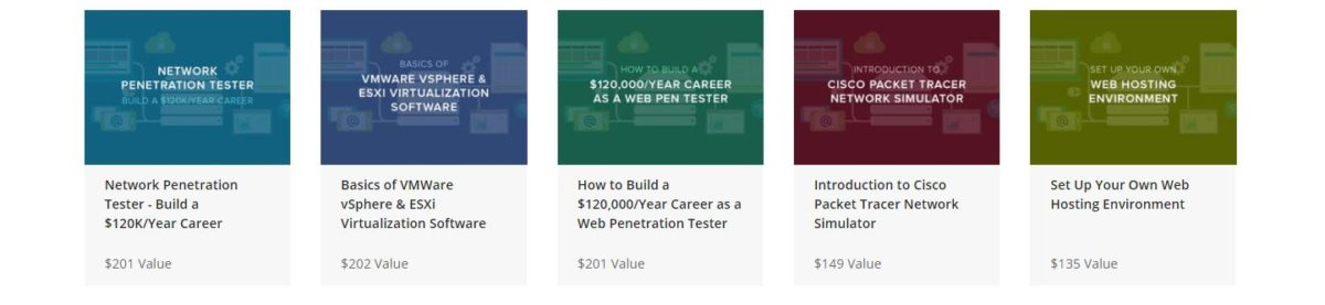 The Complete White Hat Hacking Penetration Testing Bundle Courses