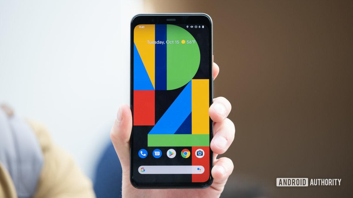 Pixel 4 XL screen in hand 2