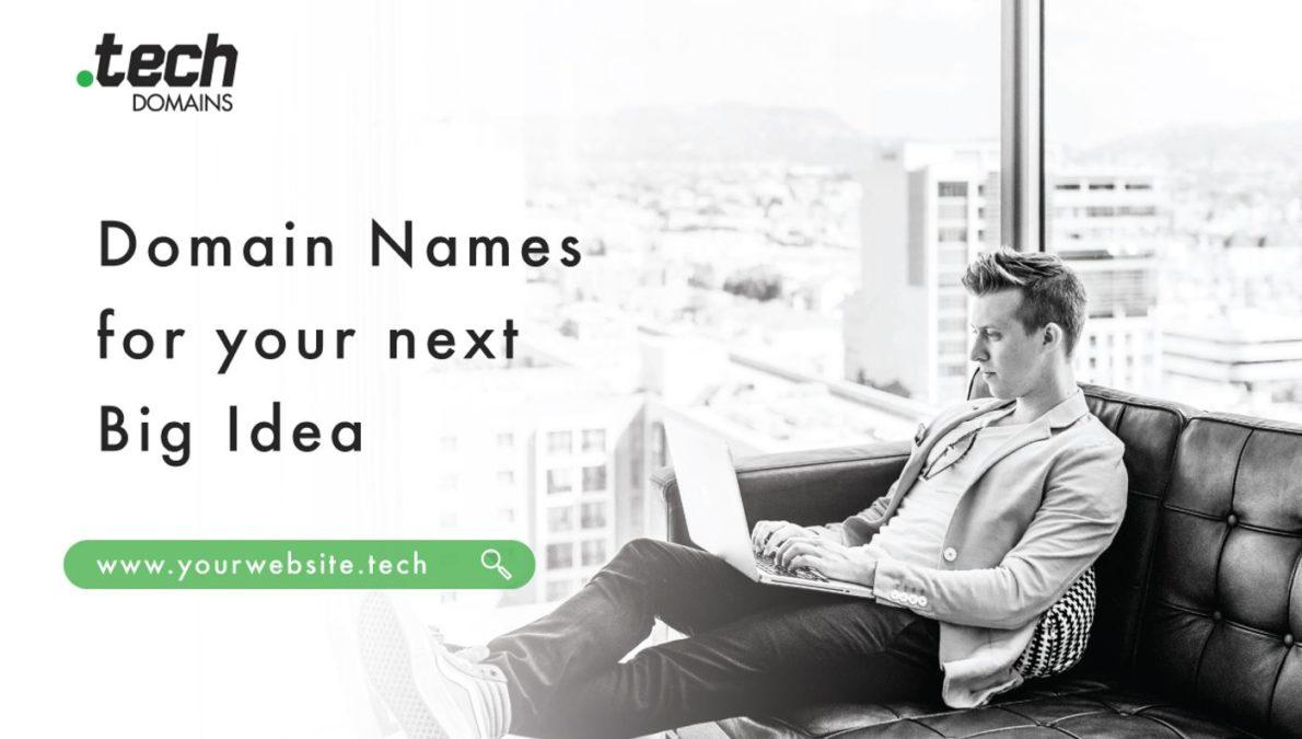 Tech Domain Name Header