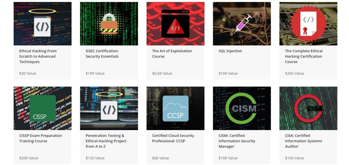 The A to Z Cybersecurity and IT Certification Training Bundle