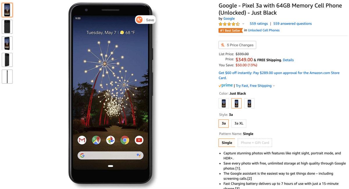 google pixel 3a deal amazon