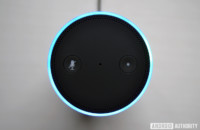 Top-down image of the Amazon Echo.