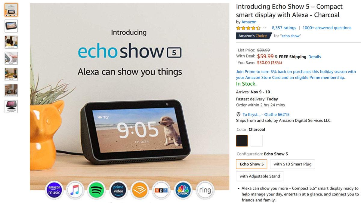 Amazon Echo Show 5 deal
